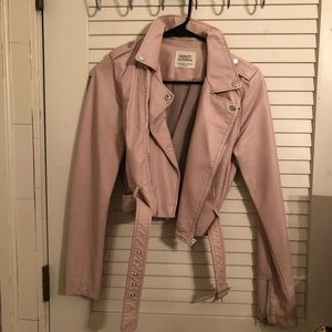 Windsor pink leather jacket
